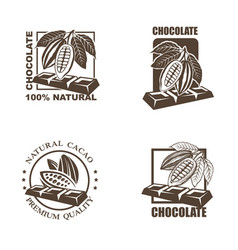 set chocolate labels vector image