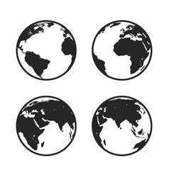 Set of globe icon vector