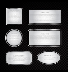silver label collection vector image