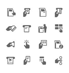 Simple Kiosk Terminal Icons vector image