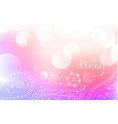 soft colorful diwali greeting background vector image