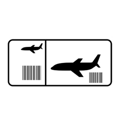 ticket flight isolated icon vector image