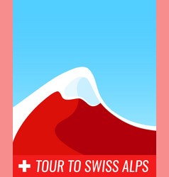tour to swiss alps - banner vector image