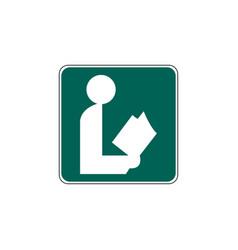 Usa traffic road signgeneral information sign vector