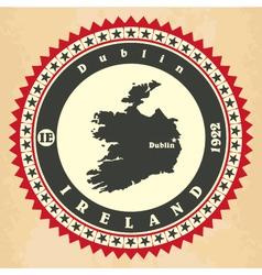 vintage label-sticker cards ireland vector image