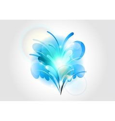 abstract flower blue light vector image vector image