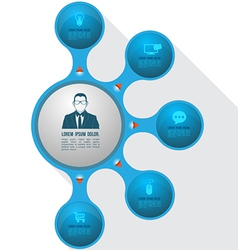 Circle relationship with icons vector image vector image