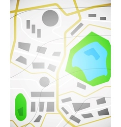 City map design vector image vector image
