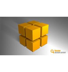 Cube orange vector