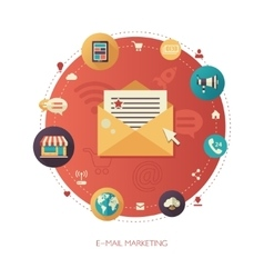 flat design business marketing vector image vector image