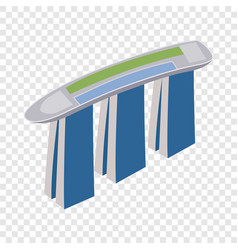 marina bay sands hotel in singapore isometric icon vector image