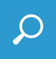 search icon white on the blue background vector image