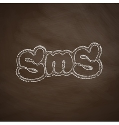 sms message icon vector image vector image