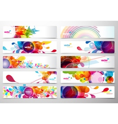 Abstract floral Banner vector image vector image