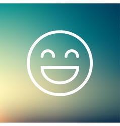 Cheerful emoji thin line icon vector image vector image