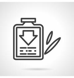 Cough syrup black line design icon vector image