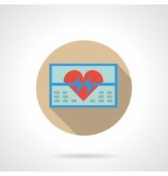 ECG monitor flat color design icon vector image