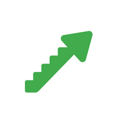 flat design concept of arrow stairs moving up vector image vector image