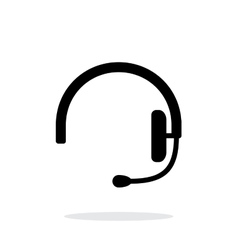 Headset icon on white background vector image vector image
