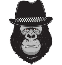 monkey with a hat vector image vector image
