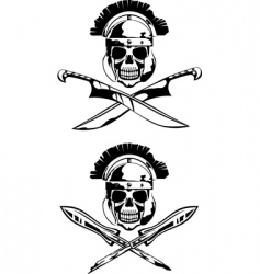 symbol with skull vector image