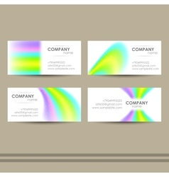 AbstractBusinessCards vector image