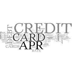 apr credit card truths and traps text word cloud vector image