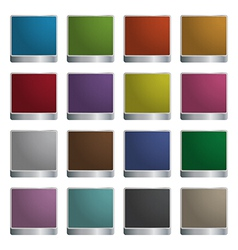 glossy square icons vector image vector image