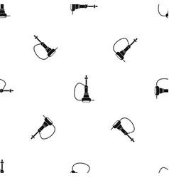 hookah pattern seamless black vector image vector image