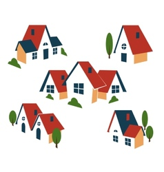 Real Estate or house icons vector image