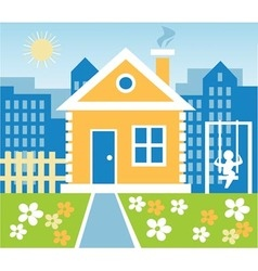 town house vector image vector image