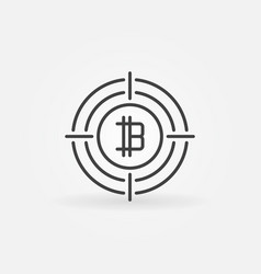 cryptocurrency sign in target icon vector image vector image