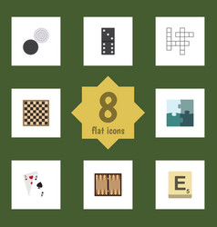 flat icon play set of guess dice ace and other vector image vector image