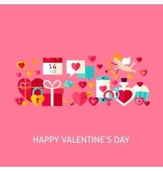 Happy Valentines Day Greeting Concept vector image vector image