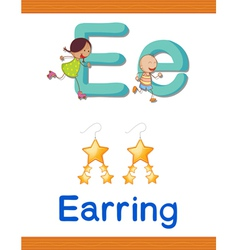 Learning Alphabet E vector image vector image