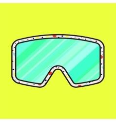 Ski fashion sunglasses icon vector image