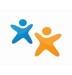 Social media people logo Business team social vector image