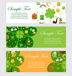 st patrick s day banner template for your design vector image