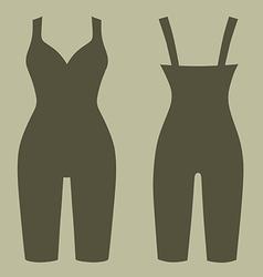 Woman silhouette slimming underwear vector image vector image