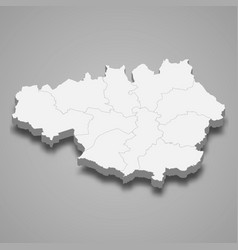 3d map greater manchester is a ceremonial vector