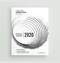 Abstract circular dots business brochure design vector