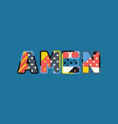 Amen concept word art vector