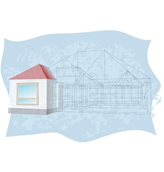 architecture blueprint vector image