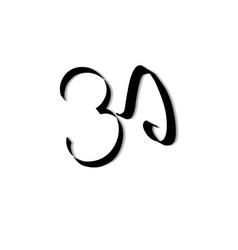 Art ohm sign om symbol yoga aum symbolizing vector