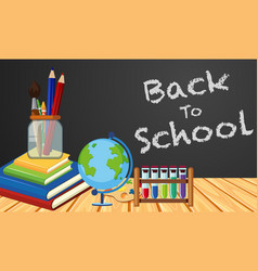 back to school poster design with objects in vector image
