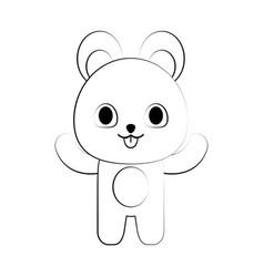 Bear ilustration vector