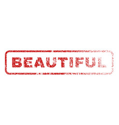 beautiful rubber stamp vector image