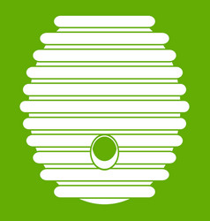 Beehive icon green vector