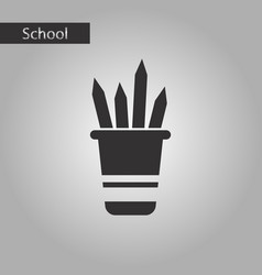 black and white style icon pencils in stand vector image