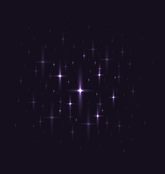 black background with night sky with stars vector image
